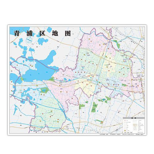 【上海同城发货】青浦区地图2020年全新版 上海市青浦