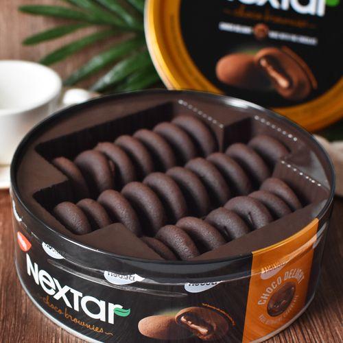 丽芝士纳宝帝nextar软心趣布朗尼风味注心巧克力夹心曲奇饼干112g