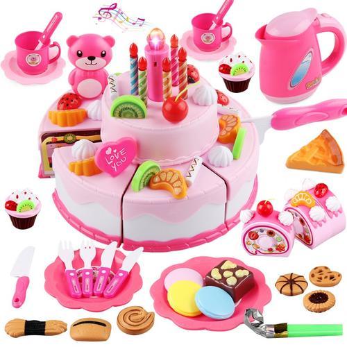 做蛋糕玩具 手工蛋糕玩具 diy仿真奶油做蛋糕玩具男孩女孩模型