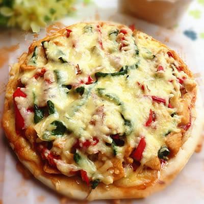奥尔良鸡肉美式厚底披萨9寸