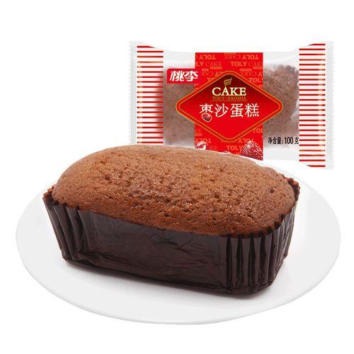 桃李枣沙蛋糕600g早餐面包小蛋糕零食网老红枣味