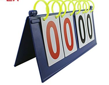 四位篮球记分牌翻分牌足球比赛计分4位竞赛双面数字翻分器