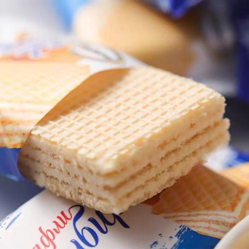 俄罗斯小农庄威化饼干进口巧克力味芝士牛奶酪冰淇淋零食品 冰淇淋