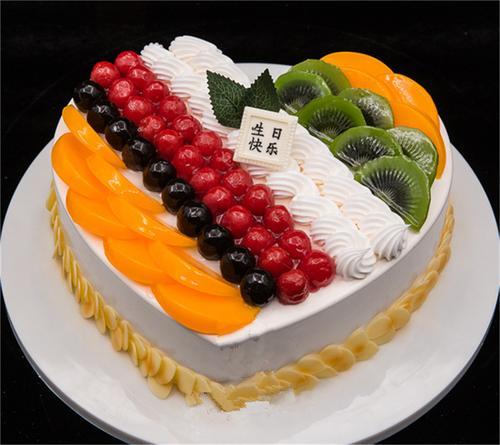心形水果蛋糕模型仿真生日蛋糕 蛋糕店开业蛋糕模型