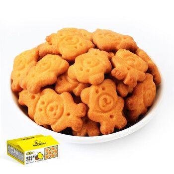 佬食仁 椰香小熊饼干夺宝整箱早餐批发曲奇数字饼干儿童零食动物熊字
