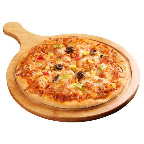 奥尔良鸡肉披萨 芝士披萨 烤箱加热厚底披萨9寸 方便