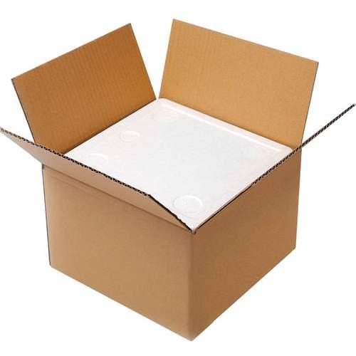 正方形泡沫箱配套纸箱五斤装桃子加厚保鲜保温 5斤