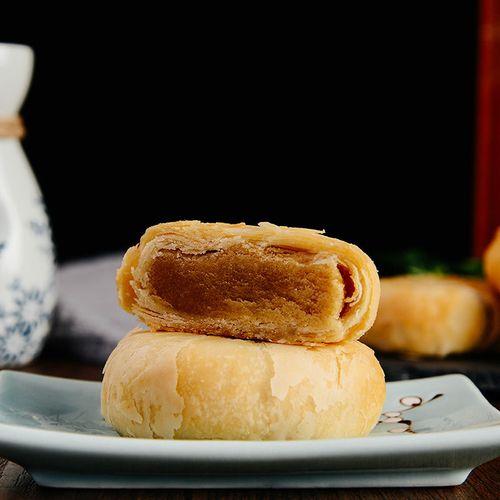 【地方美食】老式苏式酥皮五仁月饼3/24个多口味糕点