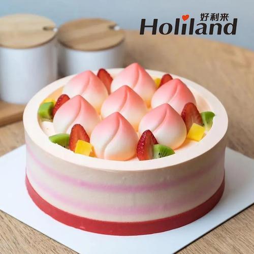 好利来祝寿蛋糕同城配送哈尔滨市大庆牡丹江老人寿桃生日蛋糕8寸