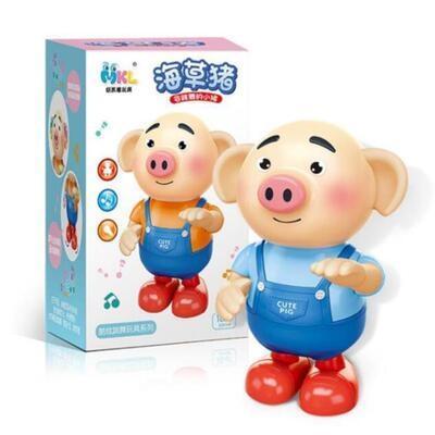 抖音同款跳舞猪海草猪海草舞摇摆小萌猪会唱歌电动萌萌猪儿童玩具