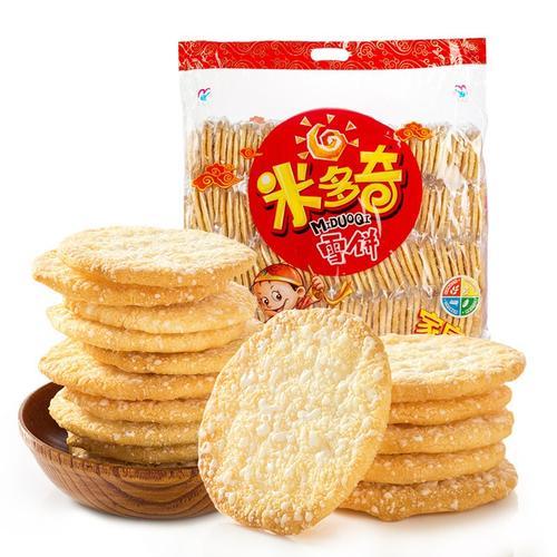 上新米多奇香米饼雪饼仙贝雪米饼1000g休闲零食燕麦雪饼膨化整箱