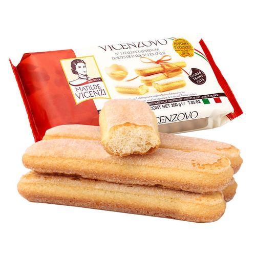 手指饼干提拉米苏原料意大利进口零食烘培蛋糕装饰围边200g 维西尼