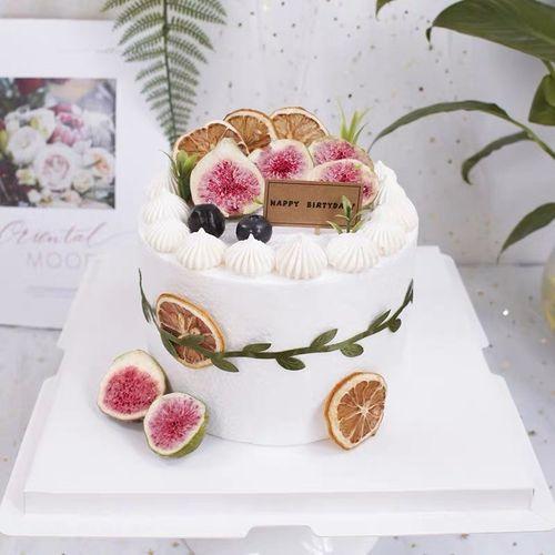 小清新生日蛋糕装饰烘干西柚果干片无花果干西柚橙子