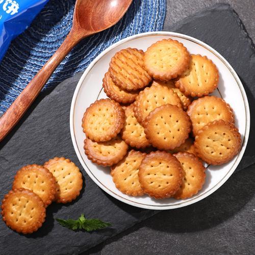 塔曼妮 北海道小圆饼海盐味南乳味500g零食小吃日式网