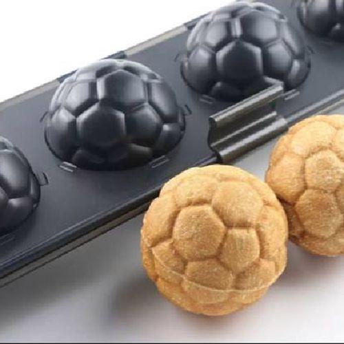 足球面包不沾5连6连足球面包蛋糕模上下盖不粘模具