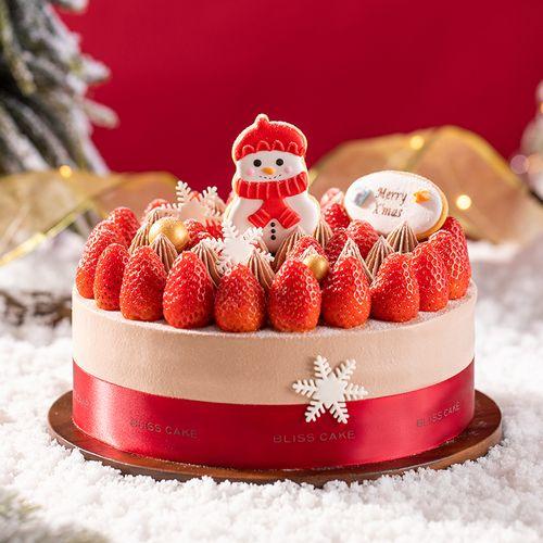 圣诞节专款】圣诞乐园蛋糕 清新草莓与巧巧奶油相互浸润,入口浓郁香甜