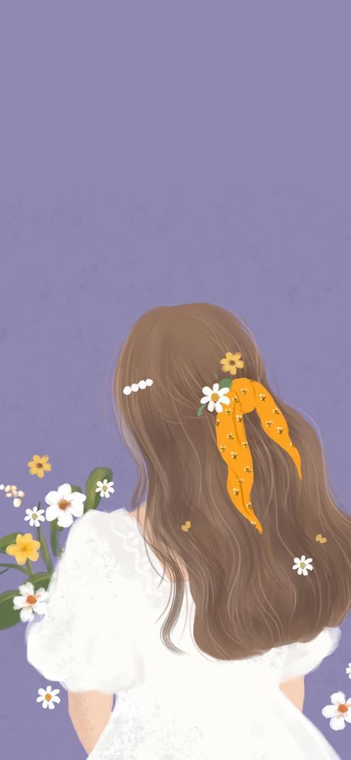 女生背影插画堆糖美图壁纸兴趣社区